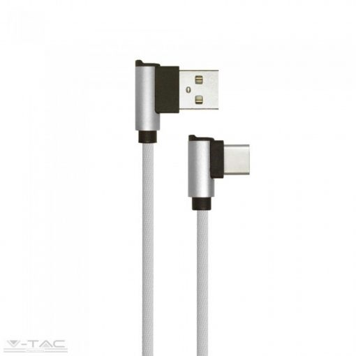 Micro USB C szövet kábel 1m szürke 2,4A Diamond széria - 8639