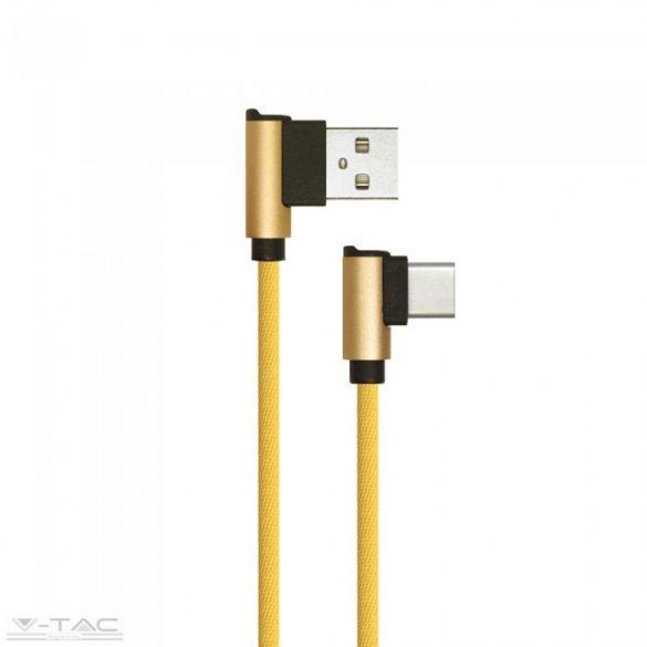 Micro USB C szövet kábel 1m arany 2,4A Diamond széria - 8640