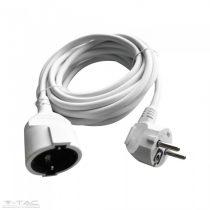 Hosszabbító (3G1,5mm2) 16A 3 méter fehér - 8778