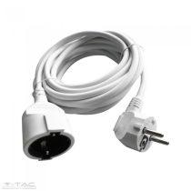 Hosszabbító (3G1,5mm2) 16A 5 méter fehér - 8779
