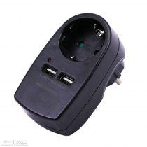 1 csatlakozós dugalj 2 USB aljzattal 16A+2.1A - 8796