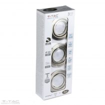5w spotlámpa GU10 nikkel kerettel és foglalattal 3000K (3db/csomag) - 8884