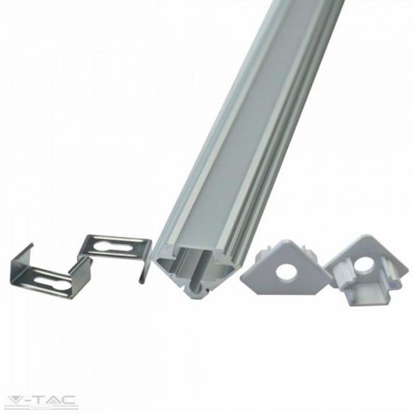 Alumínium sarok profil matt fedlappal 2 méter (2 db/csomag) - 99562