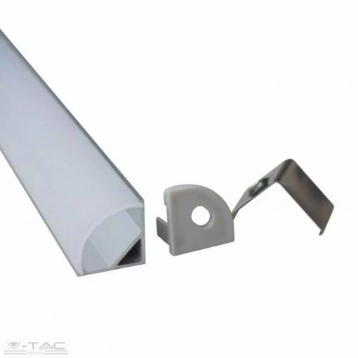 Alumínium sarok profil matt fedlappal 2 méter (2 db/csomag) - 99572