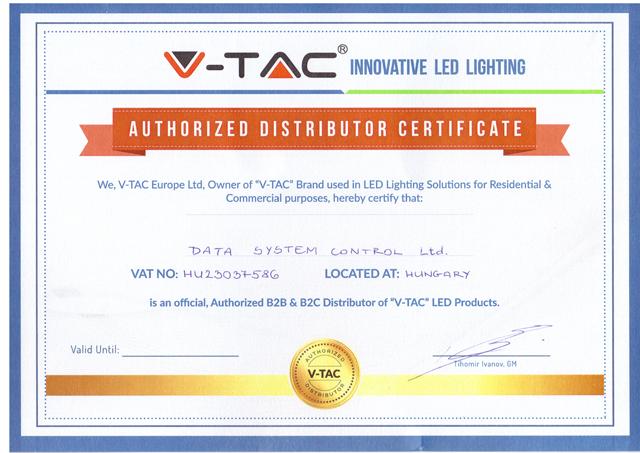 V-TAC Data System Certificate