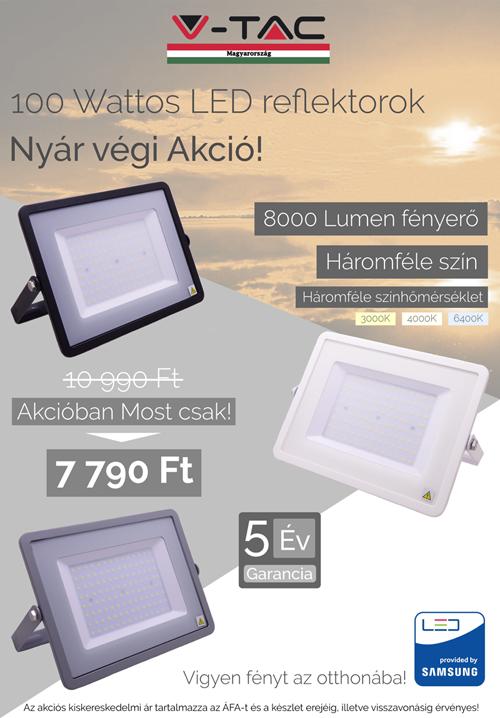 100 W Samsung chip reflektor akció